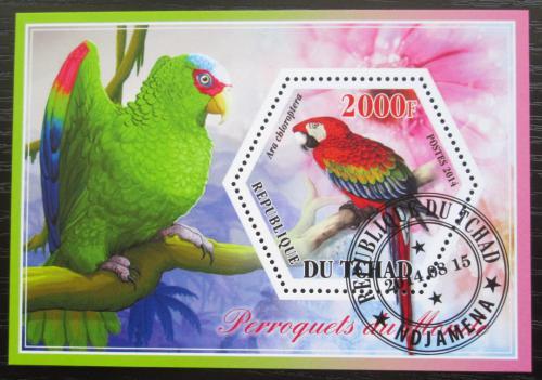 Poštovní známka Èad 2015 Papoušci Mi# N/N