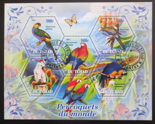 Poštovní známky Èad 2011 Papoušci Mi# N/N