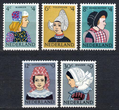 Poštovní známky Nizozemí 1960 Lidové kroje Mi# 755-59 Kat 15€