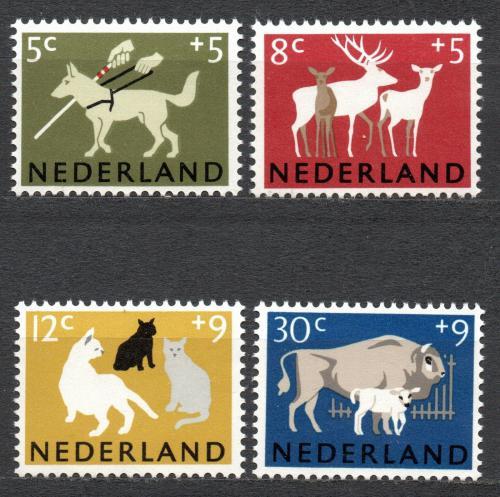 Poštovní známky Nizozemí 1964 Savci Mi# 818-21