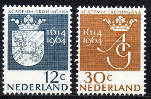 Poštovní známky Nizozemí 1964 Univerzita Groningen, 350. výroèí Mi# 822-23