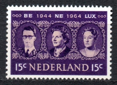 Poštovní známka Nizozemí 1964 Král a královna Mi# 829
