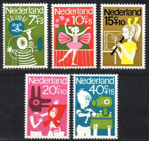 Poštovní známky Nizozemí 1964 Dìti a kultura Mi# 830-34