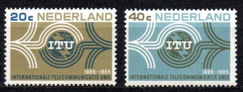 Poštovní známky Nizozemí 1965 ITU, 100. výroèí Mi# 840-41