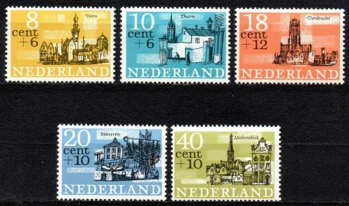 Poštovní známky Nizozemí 1965 Mìsta Mi# 843-47
