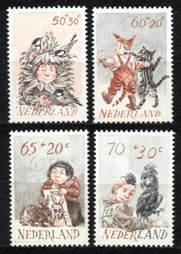 Poštovní známky Nizozemí 1982 Dìti a zvíøata Mi# 1223-26