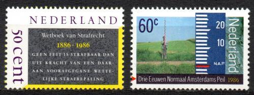 Poštovní známky Nizozemí 1986 Výroèí Mi# 1285-86