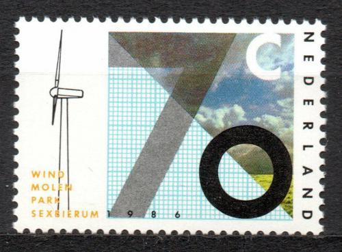 Poštovní známka Nizozemí 1986 Vìtrná energie Mi# 1287