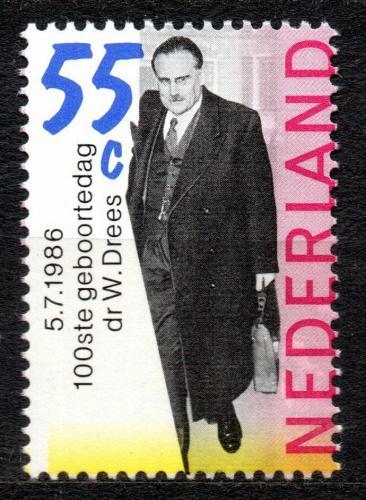 Poštovní známka Nizozemí 1986 Willem Drees, politik Mi# 1299