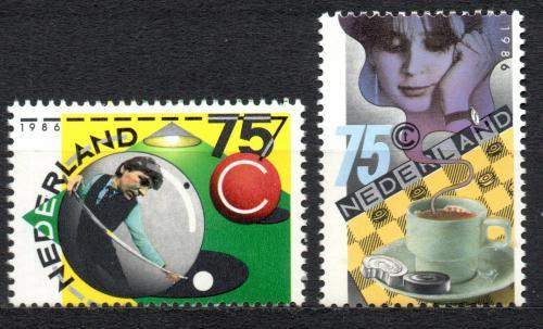 Poštovní známky Nizozemí 1986 Sport Mi# 1301-02