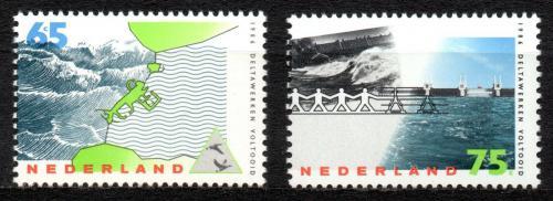 Poštovní známky Nizozemí 1986 Ochrana pøed povodnìmi Mi# 1305-06