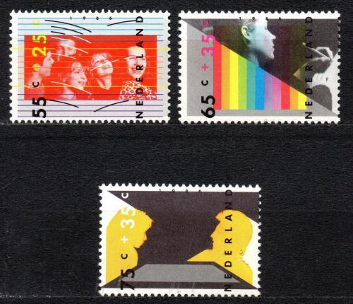 Poštovní známky Nizozemí 1986 Dìti a kultura Mi# 1307-09