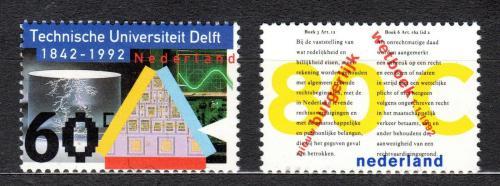 Poštovní známky Nizozemí 1992 Výroèí a události Mi# 1427-28