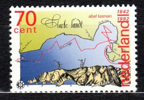 Poštovní známka Nizozemí 1992 Objevení Nového Zélandu, 350. výroèí Mi# 1435