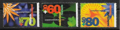 Poštovní známky Nizozemí 1992 Kvìtiny Mi# 1436-38