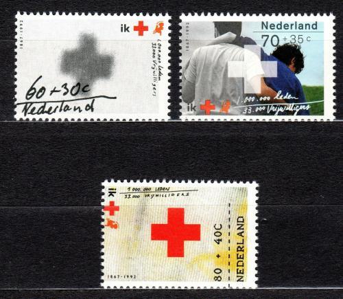 Poštovní známky Nizozemí 1992 Nizozemský èervený køíž, 125. výroèí Mi# 1446-48
