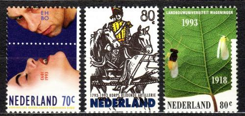Poštovní známky Nizozemí 1993 Výroèí a události Mi# 1465-67