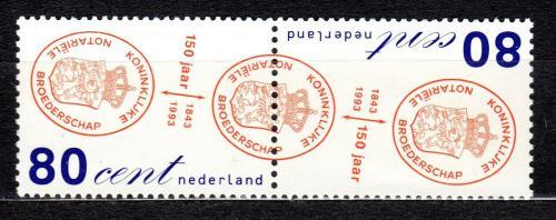 Poštovní známky Nizozemí 1993 Komora notáøù, 150. výroèí Mi# 1468-69