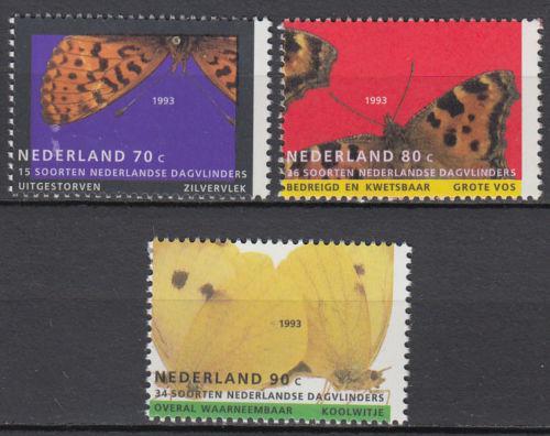 Poštovní známky Nizozemí 1993 Motýli Mi# 1470-72