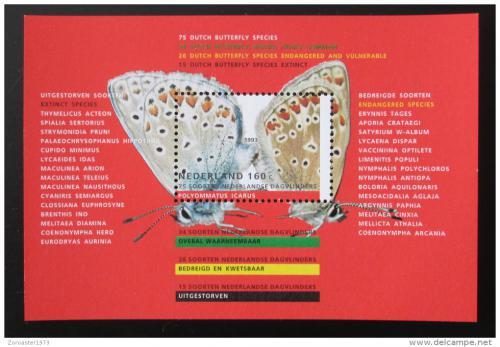 Poštovní známka Nizozemí 1993 Motýli Mi# Block 38