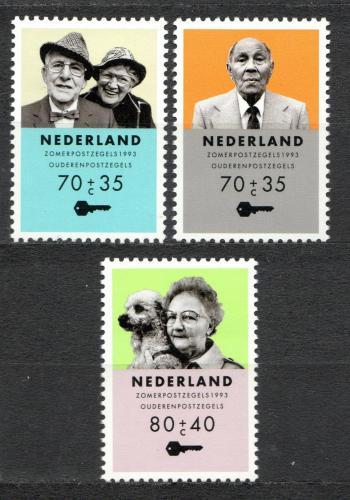 Poštovní známky Nizozemí 1993 Péèe o seniory Mi# 1474-76