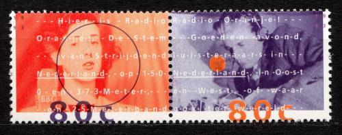 Poštovní známky Nizozemí 1993 Osobnosti  rádia Oranje Mi# 1477-78
