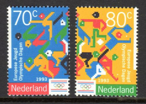Poštovní známky Nizozemí 1993 Olympiáda mládeže Mi# 1479-80