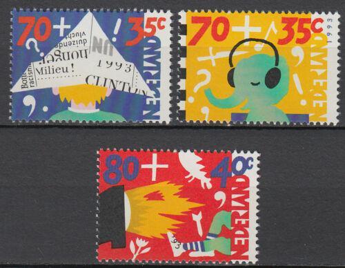 Poštovní známky Nizozemí 1993 Dìti a média Mi# 1492-94