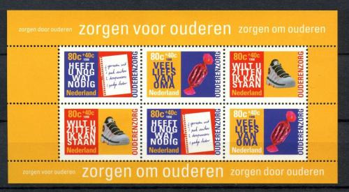 Poštovní známky Nizozemí 1998 Práce seniorù Mi# Block 55 Kat 7.50€