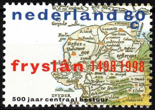 Poštovní známka Nizozemí 1998 Mapa Fríska Mi# 1660