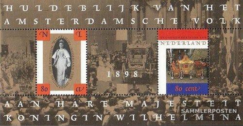 Poštovní známky Nizozemí 1998 Královská výroèí Mi# Block 56