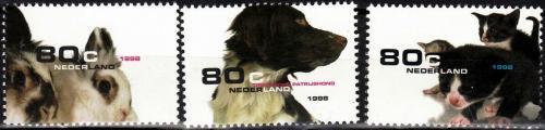 Poštovní známky Nizozemí 1998 Domácí zvíøata Mi# 1675-77