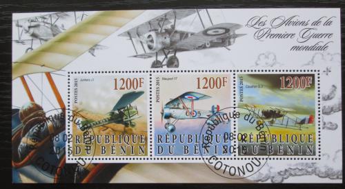 Poštovní známky Benin 2015 Váleèná letadla Mi# N/N