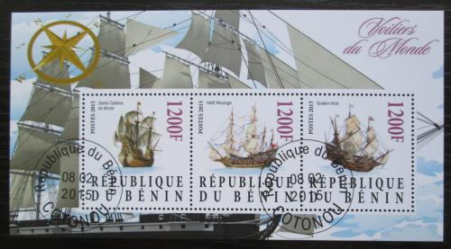 Poštovní známky Benin 2015 Staré plachetnice Mi# N/N