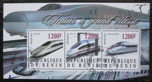 Poštovní známky Benin 2015 Moderní lokomotivy Mi# N/N