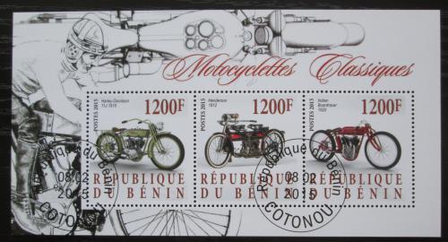 Poštovní známky Benin 2015 Historické motocykly Mi# N/N