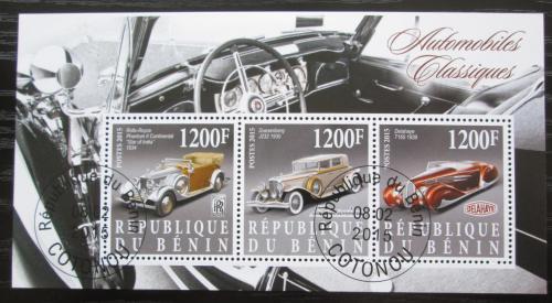 Poštovní známky Benin 2015 Historické automobily Mi# N/N