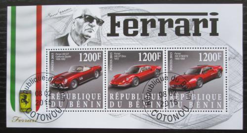 Poštovní známky Benin 2015 Ferrari Mi# N/N