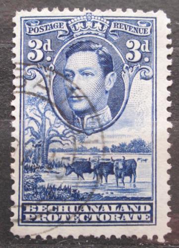 Poštovní známka Beèuánsko, Botswana 1938 Král Jiøí VI. a stádo skotu Mi# 105