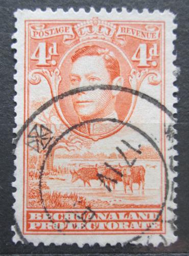 Poštovní známka Beèuánsko, Botswana 1938 Král Jiøí VI. a stádo skotu Mi# 106