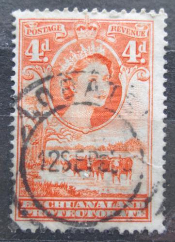 Poštovní známka Beèuánsko, Botswana 1958 Královna Alžbìta II. a stádo skotu Mi# 133 Kat 14€