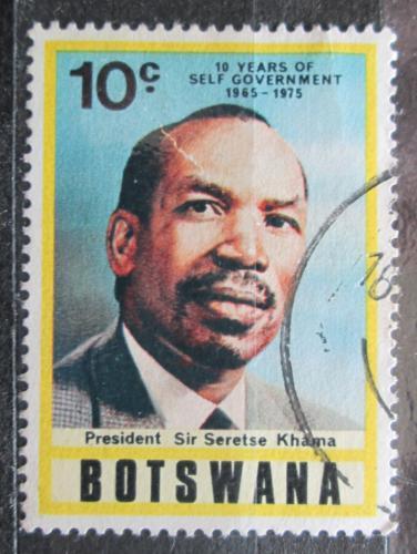 Poštovní známka Botswana 1975 Prezident Seretse Khama Mi# 133