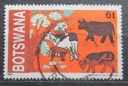 Poštovní známka Botswana 1982 Dìtská kresba Mi# 291
