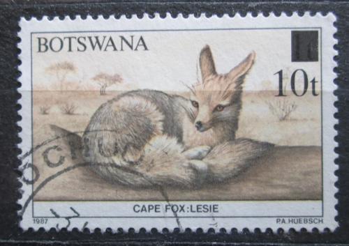 Poštovní známka Botswana 1990 Liška chama pøetisk Mi# 471