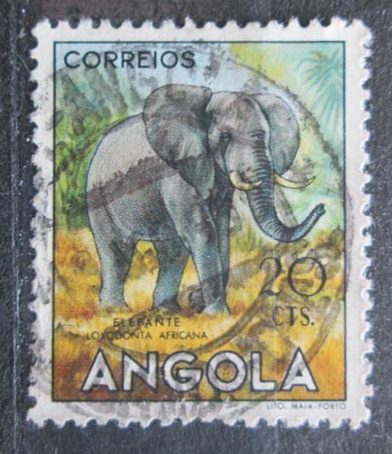 Poštovní známka Angola 1955 Slon africký Mi# 370