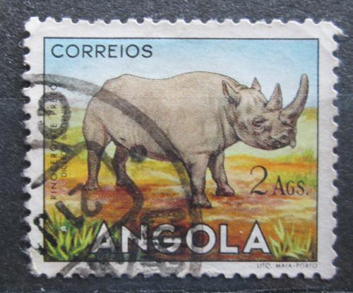 Poštovní známka Angola 1955 Nosorožec dvourohý Mi# 376