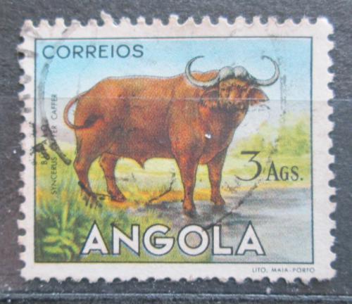 Poštovní známka Angola 1955 Buvol africký Mi# 379