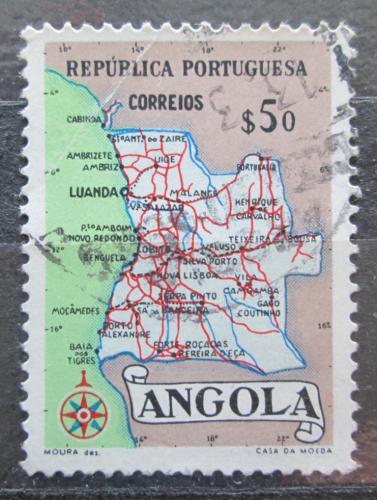 Poštovní známka Angola 1955 Mapa Mi# 394