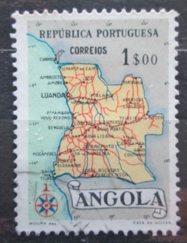 Poštovní známka Angola 1955 Mapa Mi# 395