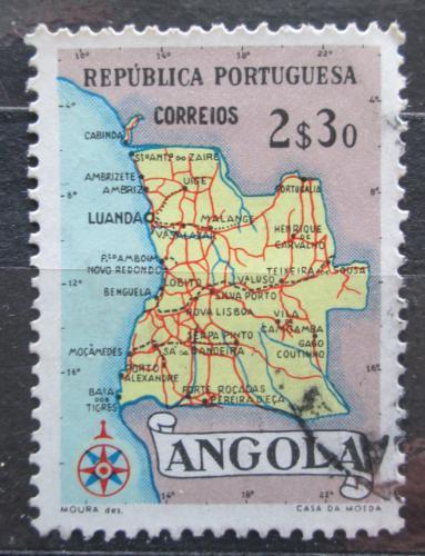 Poštovní známka Angola 1955 Mapa Mi# 396